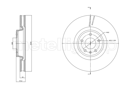 Slika METELLI - 23-1865C - Kočioni disk (Kočioni uređaj)