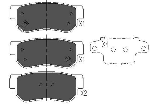 Slika KAVO PARTS - KBP-3005 - Komplet pločica, disk-kočnica (Kočioni uređaj)