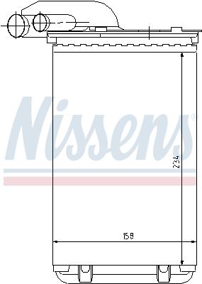 Slika NISSENS - 73252 - Izmenjivač toplote, grejanje unutrašnjeg prostora (Grejanje/ventilacija)