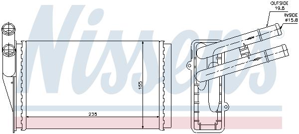 Slika NISSENS - 70221 - Izmenjivač toplote, grejanje unutrašnjeg prostora (Grejanje/ventilacija)