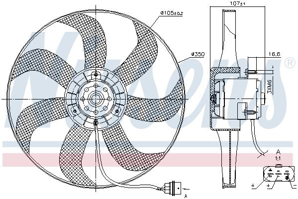 Slika NISSENS - 85725 - Ventilator, hlađenje motora (Hlađenje)