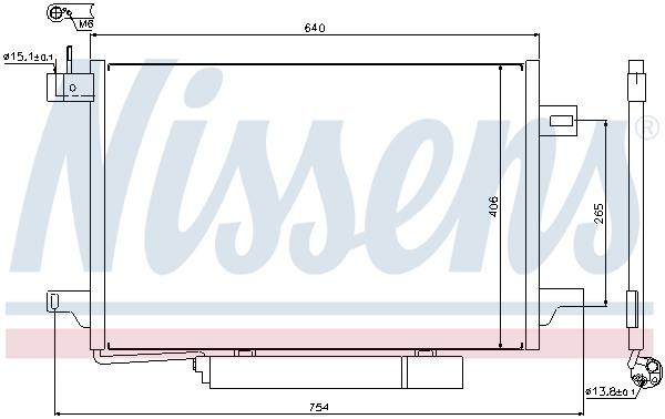 Slika NISSENS - 94910 - Kondenzator, klima-uređaj (Klima-uređaj)