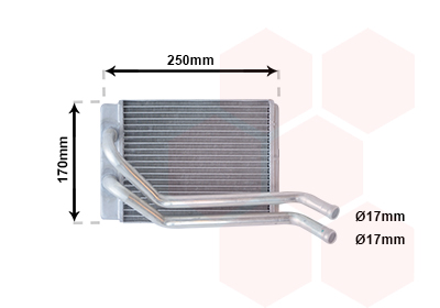 Slika VAN WEZEL - 82006118 - Izmenjivač toplote, grejanje unutrašnjeg prostora (Grejanje/ventilacija)