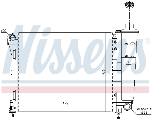 Slika NISSENS - 61936 - Hladnjak, hlađenje motora (Hlađenje)