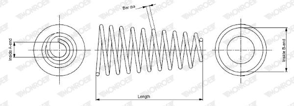 Slika MONROE - SP0139 - Opruga trapa (Vešanje/amortizovanje)