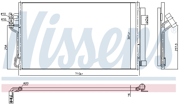 Slika NISSENS - 94674 - Kondenzator, klima-uređaj (Klima-uređaj)
