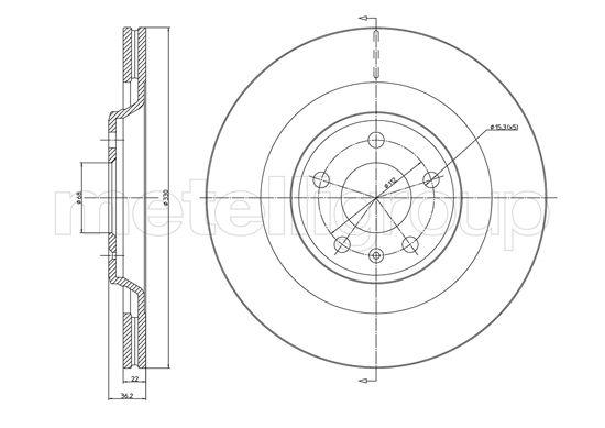 Slika METELLI - 23-1339C - Kočioni disk (Kočioni uređaj)