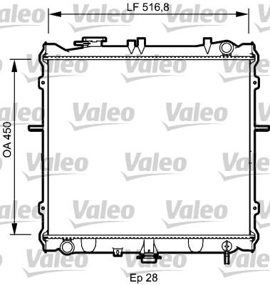 Slika VALEO - 734788 - Hladnjak, hlađenje motora (Hlađenje)