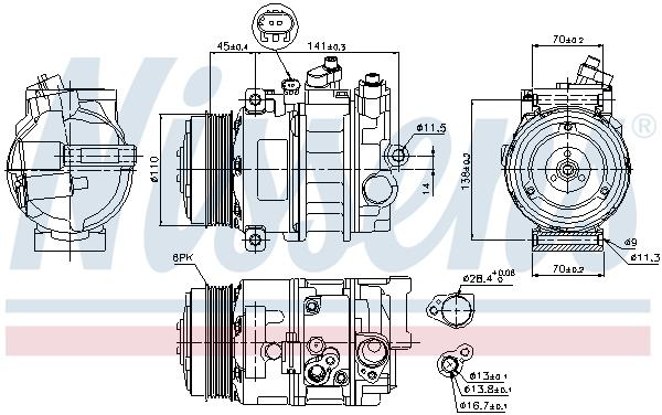 Slika NISSENS - 89039 - Kompresor, klima-uređaj (Klima-uređaj)