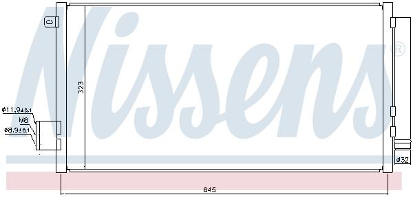 Slika NISSENS - 940395 - Kondenzator, klima-uređaj (Klima-uređaj)