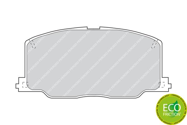 Slika FERODO - FDB602 - Komplet pločica, disk-kočnica (Kočioni uređaj)