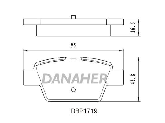 Slika DANAHER - DBP1719 - Komplet pločica, disk-kočnica (Kočioni uređaj)
