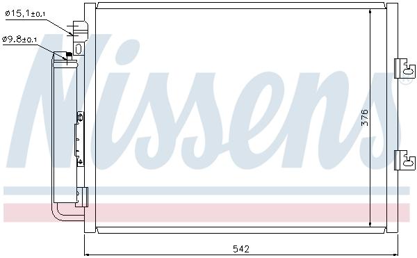 Slika NISSENS - 940126 - Kondenzator, klima-uređaj (Klima-uređaj)