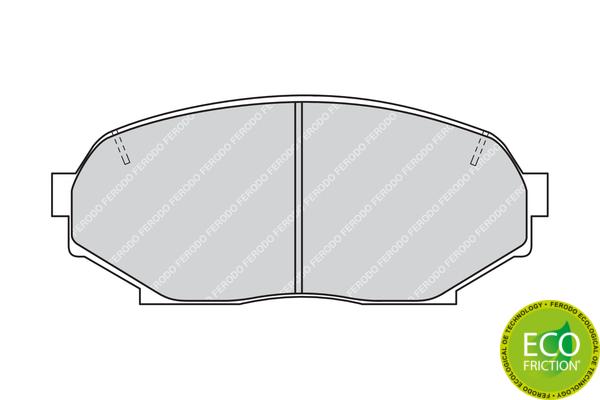 Slika FERODO - FDB653 - Komplet pločica, disk-kočnica (Kočioni uređaj)