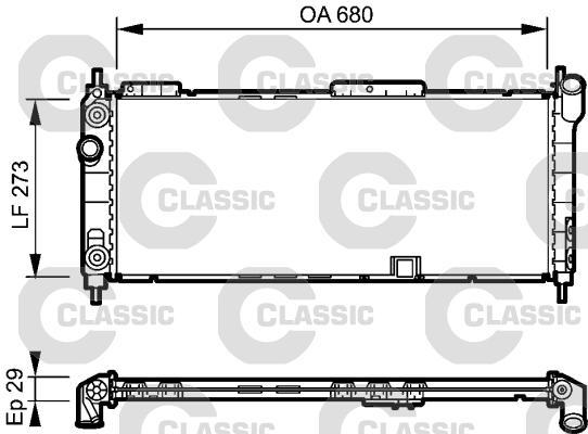 Slika VALEO - 234271 - Hladnjak, hlađenje motora (Hlađenje)