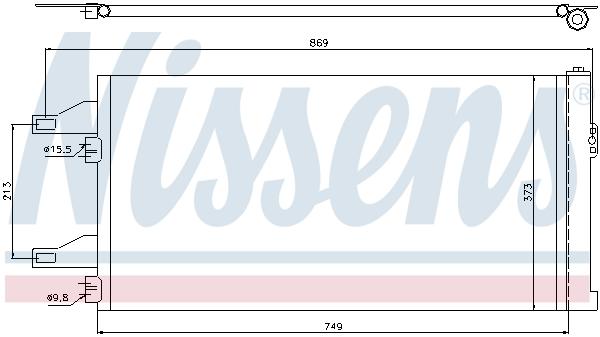 Slika NISSENS - 94985 - Kondenzator, klima-uređaj (Klima-uređaj)