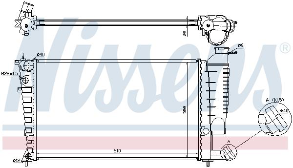 Slika NISSENS - 635181 - Hladnjak, hlađenje motora (Hlađenje)