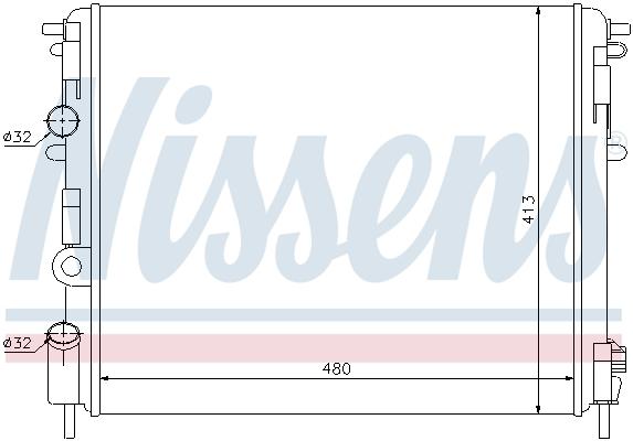 Slika NISSENS - 63809 - Hladnjak, hlađenje motora (Hlađenje)