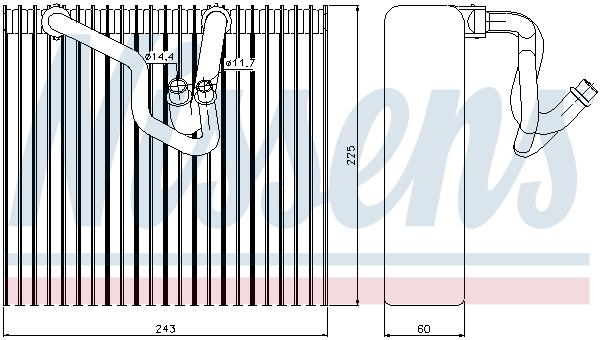 Slika NISSENS - 92187 - Isparivač, klima-uređaj (Klima-uređaj)