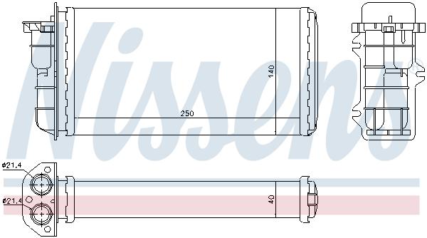 Slika NISSENS - 71441 - Izmenjivač toplote, grejanje unutrašnjeg prostora (Grejanje/ventilacija)