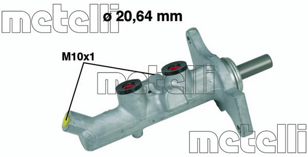 Slika METELLI - 05-0592 - Glavni kočioni cilindar (Kočioni uređaj)