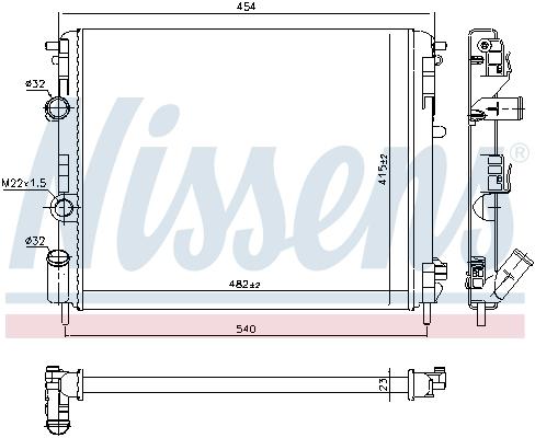 Slika NISSENS - 637931 - Hladnjak, hlađenje motora (Hlađenje)
