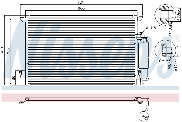 Slika NISSENS - 94675 - Kondenzator, klima-uređaj (Klima-uređaj)