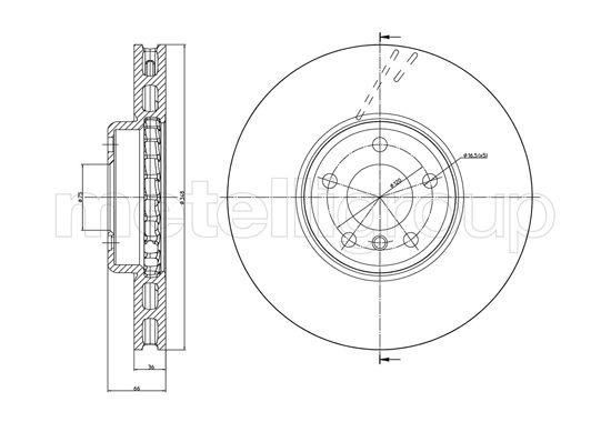 Slika METELLI - 23-1327C - Kočioni disk (Kočioni uređaj)