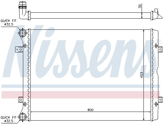 Slika NISSENS - 65014 - Hladnjak, hlađenje motora (Hlađenje)