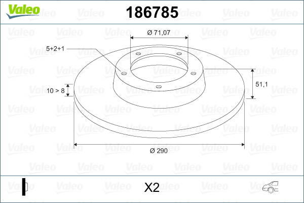 Slika VALEO - 186785 - Kočioni disk (Kočioni uređaj)