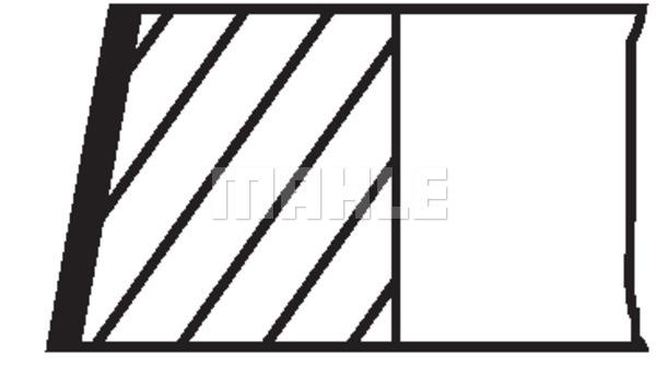 Slika MAHLE - 014 72 N2 - Komplet klipnih prstenova (Krivajni mehanizam)