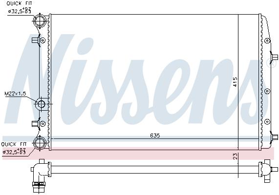 Slika NISSENS - 652711 - Hladnjak, hlađenje motora (Hlađenje)