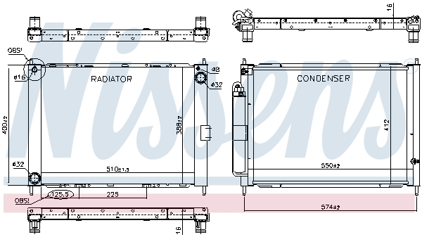 Slika NISSENS - 637625 - Modul hladnjaka (Hlađenje)
