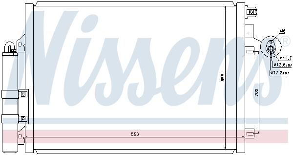 Slika NISSENS - 940074 - Kondenzator, klima-uređaj (Klima-uređaj)
