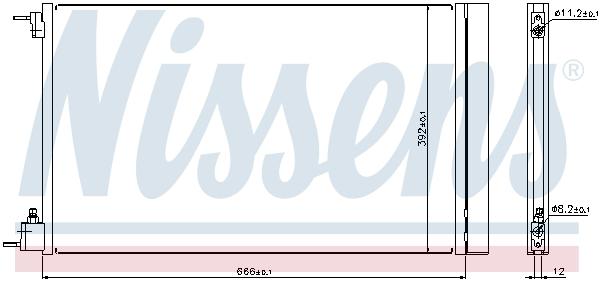 Slika NISSENS - 940124 - Kondenzator, klima-uređaj (Klima-uređaj)