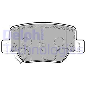 Slika DELPHI - LP2193 - Komplet pločica, disk-kočnica (Kočioni uređaj)