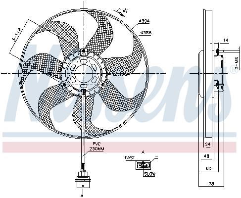 Slika NISSENS - 85798 - Ventilator, hlađenje motora (Hlađenje)