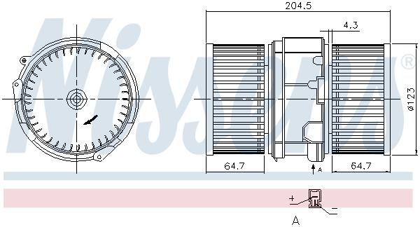 Slika NISSENS - 87357 - Ventilator kabine/unutrašnjeg prostora (Grejanje/ventilacija)