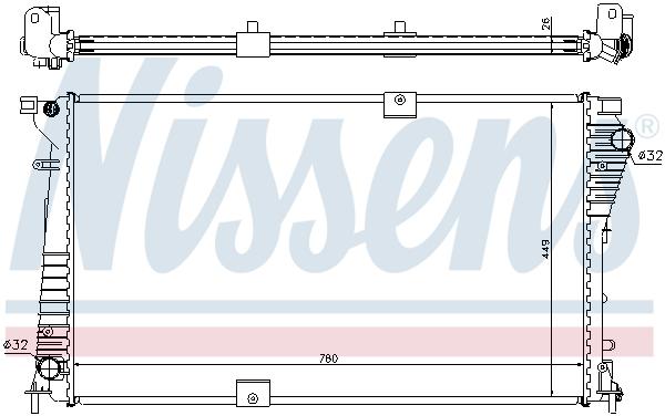 Slika NISSENS - 630709 - Hladnjak, hlađenje motora (Hlađenje)