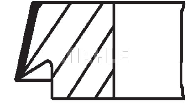 Slika MAHLE - 013 37 N2 - Komplet klipnih prstenova (Krivajni mehanizam)