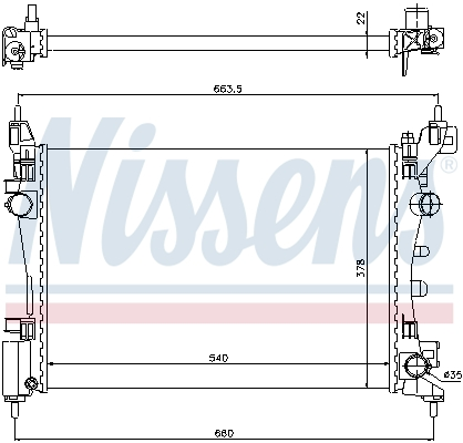 Slika NISSENS - 61918 - Hladnjak, hlađenje motora (Hlađenje)