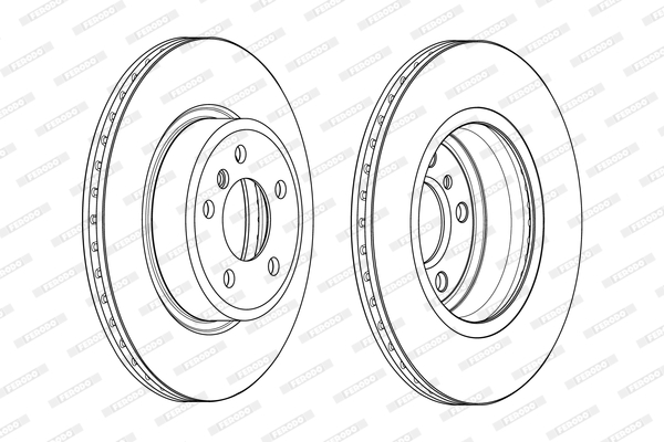 Slika FERODO - DDF2039C - Kočioni disk (Kočioni uređaj)