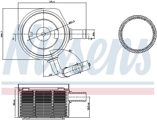Slika NISSENS - 90669 - Uljni hladnjak, ulje za motor (Podmazivanje)