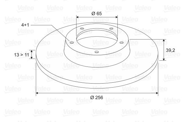 Slika VALEO - 186251 - Kočioni disk (Kočioni uređaj)