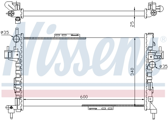 Slika NISSENS - 63094 - Hladnjak, hlađenje motora (Hlađenje)