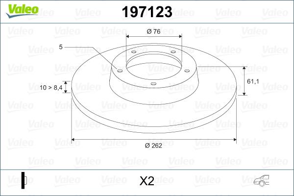 Slika VALEO - 197123 - Kočioni disk (Kočioni uređaj)