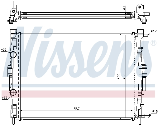 Slika NISSENS - 63769 - Hladnjak, hlađenje motora (Hlađenje)