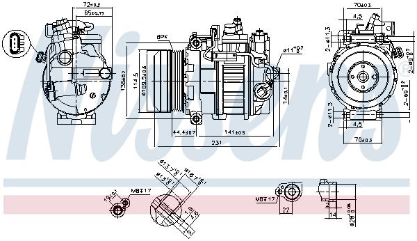 Slika NISSENS - 890552 - Kompresor, klima-uređaj (Klima-uređaj)