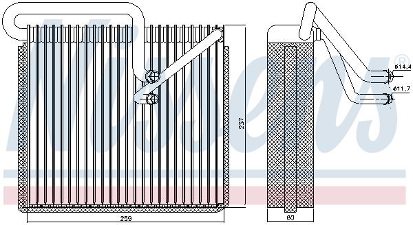 Slika NISSENS - 92190 - Isparivač, klima-uređaj (Klima-uređaj)
