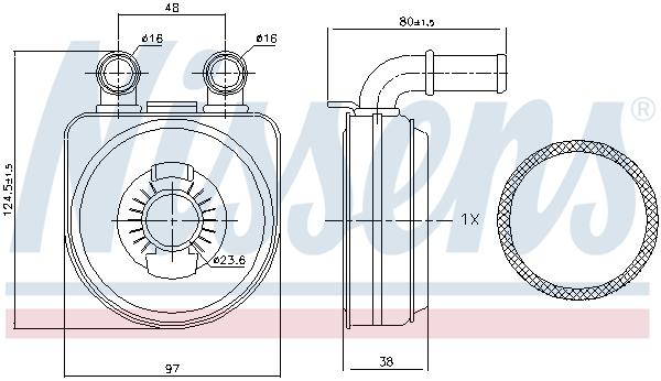 Slika NISSENS - 90650 - Uljni hladnjak, ulje za motor (Podmazivanje)